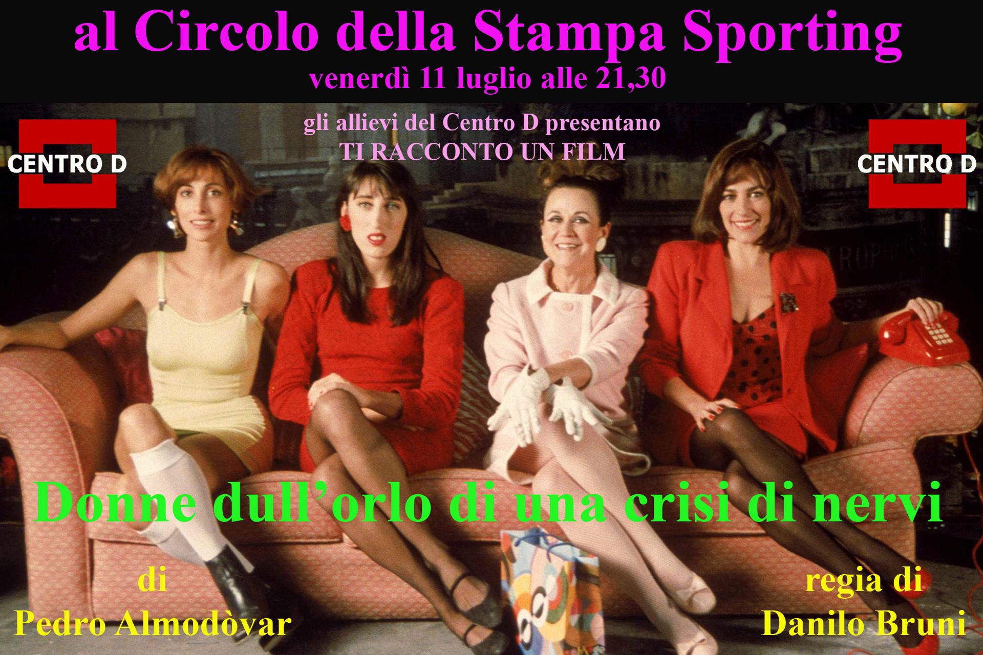 """Teatro al Circolo: """"Donne sull'orlo di una crisi di nervi"""""""