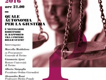 """Palazzo Ceriana Mayneri: """"Quale autonomia per la giustizia"""""""