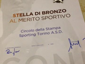 """LO SPORTING """"STELLA DI BRONZO AL MERITO SPORTIVO"""""""