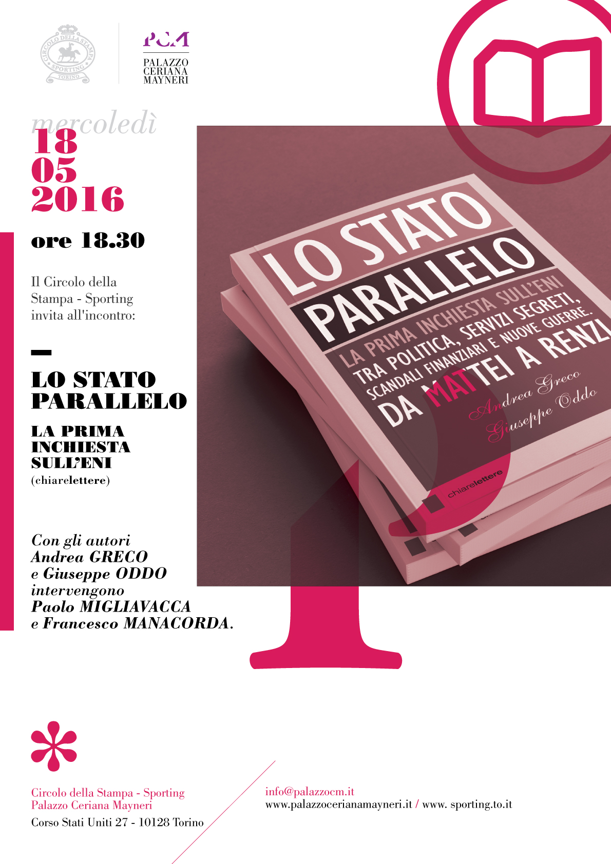 """""""Lo Stato parallelo"""" incontro a Palazzo Ceriana Mayneri"""