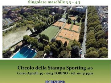 CIRCUITO TORNEI WEEKEND, SINGOLARE MASCHILE 3.3 – 4.3