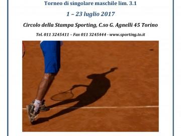 Torneo singolare maschile 3.1