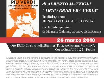 "ALBERTO MATTIOLI PRESENTA IL LIBRO ""MENO GRIGI PIU' VERDI"""
