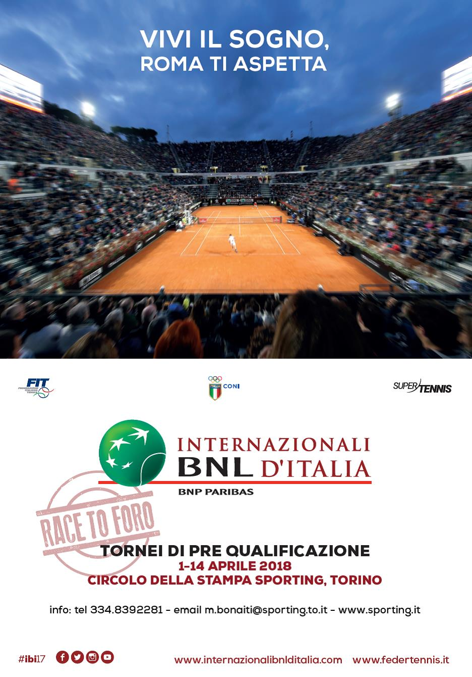 PRE QUALIFICAZIONI INTERNAZIONALI BNL D'ITALIA - 4^ CAT. FEMMINILE PROVINCIALE