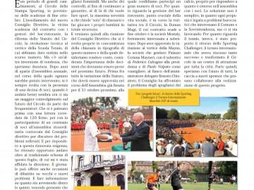 CIRCOLO DELLA STAMPA SPORTING settembre