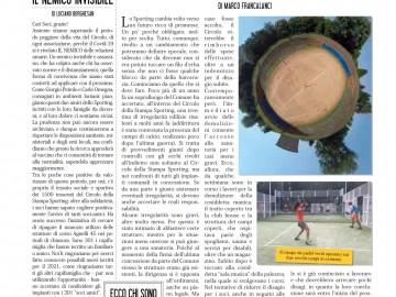 CIRCOLO DELLA STAMPA SPORTING ottobre 2020
