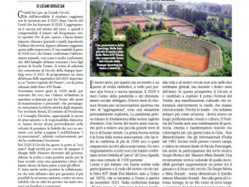 CIRCOLO DELLA STAMPA SPORTING asd, Febbraio 2021