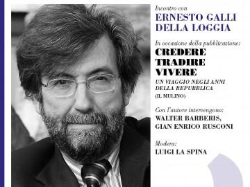 """Palazzo Ceriana Mayneri 9 marzo: Presentazione del libro """"Credere Tradire Vivere"""" di Ernesto Galli Della Loggia"""