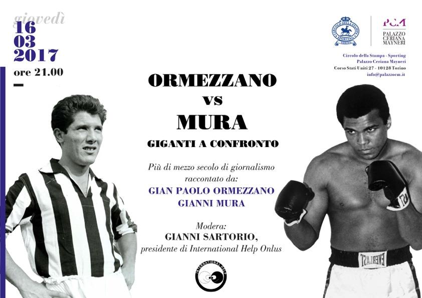 """Palazzo Ceriana Mayneri 16 marzo: """"Ormezzano vs Mura"""" Giganti a confronto"""