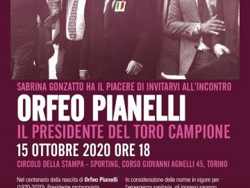 """Allo Sporting: """"RICORDO DI ORFEO PIANELLI"""" giovedì 15 ottobre"""
