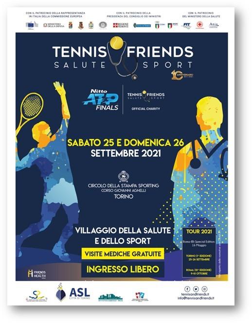 TENNIS&FRIENDS ALLO SPORTING, 25 e 26 SETTEMBRE